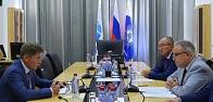Глава ФСК ЕЭС Андрей Муров провел встречу с Губернатором Сахалинской области Олегом Кожемяко